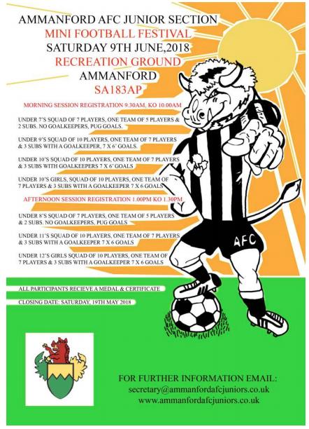 Ammanford AFC Juniors Football Tournament